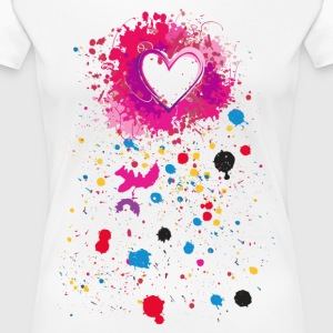 heart Spray - Dame premium T-shirt
