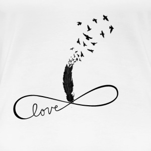feather and love - Women's Premium T-Shirt