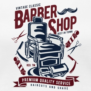 Vintage Barber Shop2 - Women's Premium T-Shirt