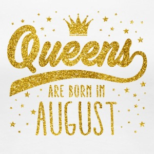 Gold Glitter Queens Are Born In August - Women's Premium T-Shirt