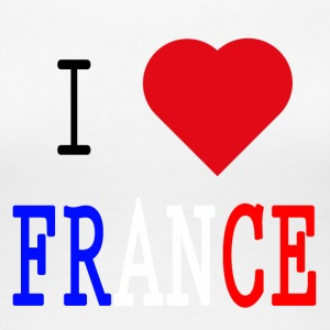 I Love France - Premium T-skjorte for kvinner