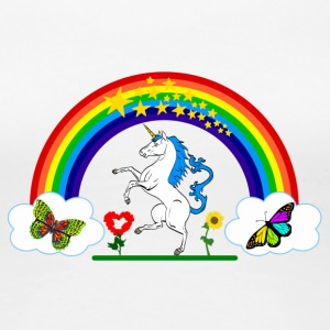 Rainbow Unicorn logo - Women's Premium T-Shirt