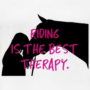 Horse riding therapy gift funny shirt love - Women's Premium T-Shirt