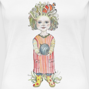 Little miss Saltvatten - Premium-T-shirt dam
