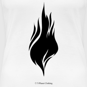 Black Flame - Premium-T-shirt dam