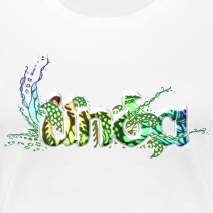 Linda 3D name fabulous flower flowers - Women's Premium T-Shirt