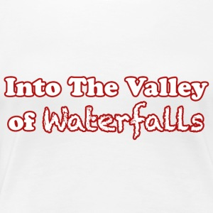 In the Valley of Waterfalls - Punainen - Naisten premium t-paita
