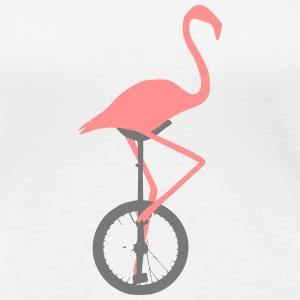 Flamingo sur monocycle - T-shirt Premium Femme