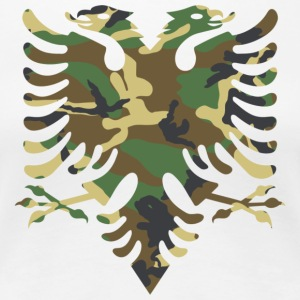 Albanian flag Camouflage Wood - Women's Premium T-Shirt