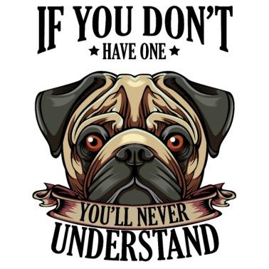 Mops Wenn Du Keinen Hund Lustig Spruch T Shirt Frauen Premium T Shirt Grau Meliert