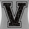 Letter V in grunge look - Women's Premium T-Shirt