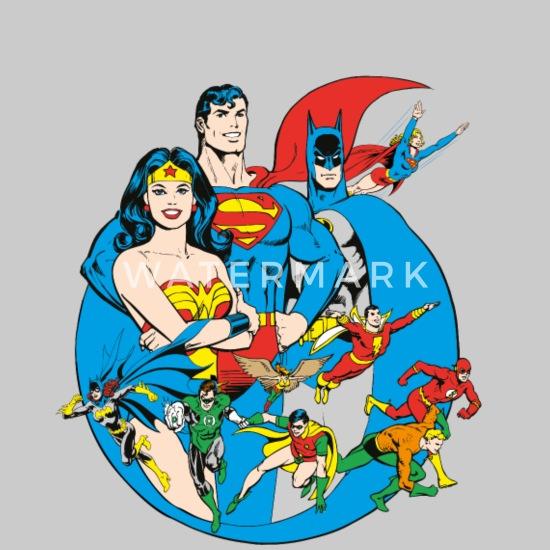Fantastique DC Comics Originals Super-Héros Rétro T-shirt premium Femme JA-73