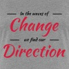 In the waves of change we find our direction - Women's Premium T-Shirt