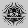 all seeing eye -  eye of god / pyramid - symbol of Omniscience & Supreme Being - Dame premium T-shirt