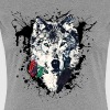 Wolf with Rose, Love Symbol, Loup, Freedom,  - T-shirt Premium Femme