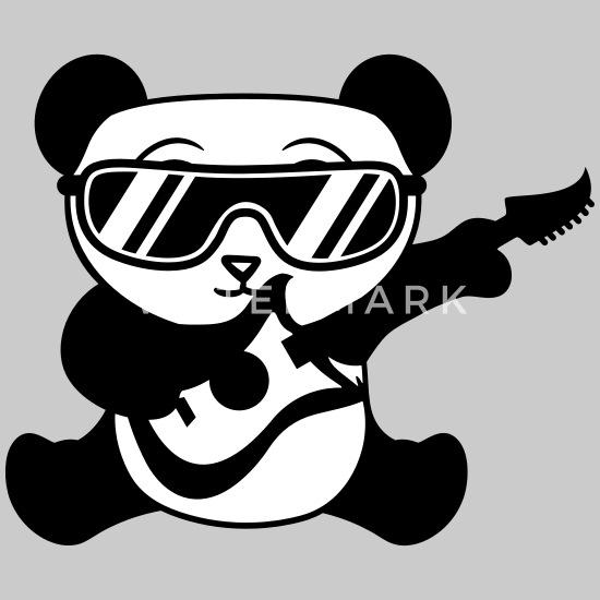 band gitarre elektro cool sonnenbrille konzert mus Frauen Premium T Shirt Schwarz