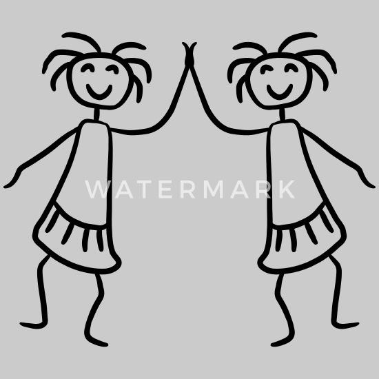 2 kvinder og piger hold venner håndtryk Premium T shirt dame