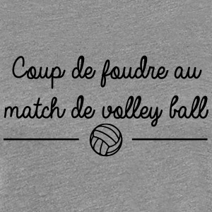 Coup de foudre au match de volley ball - T-shirt Premium Femme