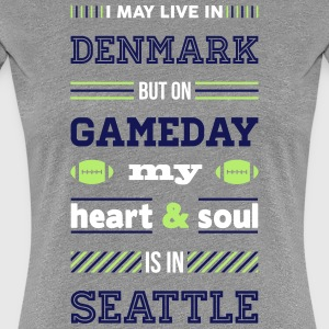 I may live in Denmark... (Seattle edition) - Dame premium T-shirt