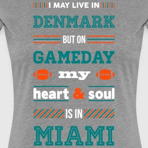 I may live in Denmark... (Miami edition) - Dame premium T-shirt