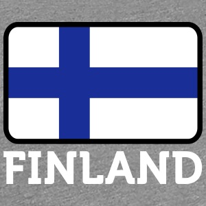 Finlands nationalflagga - Premium-T-shirt dam