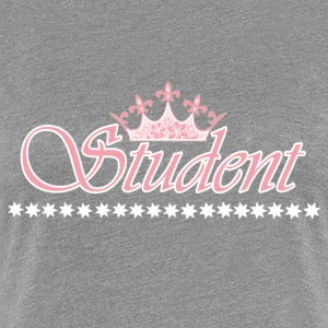 Student crown - WHITE-ROSE - Women's Premium T-Shirt