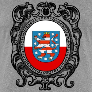Thuringia coat of arms flag - Women's Premium T-Shirt