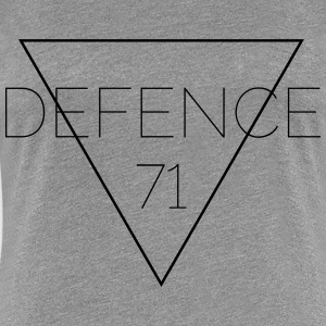 Defense 71 svart - Premium-T-shirt dam