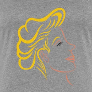 hairstyle blond woman - Women's Premium T-Shirt