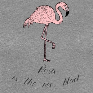 Flamingo - Pink is the new black - comic - Women's Premium T-Shirt