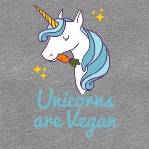Unicorn T-shirt - Unicorns är Vegan (blått) - Premium-T-shirt dam