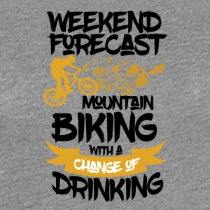 Mountainbike & drikkevarer forude - Weekend Forecast - Dame premium T-shirt