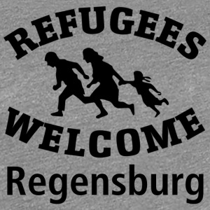 Refugees.Welcome.Regensburg - Premium T-skjorte for kvinner