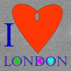 I Love London B - T-shirt Premium Femme