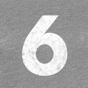 Number 6, number 6, 6, six, number six, six - Women's Premium T-Shirt