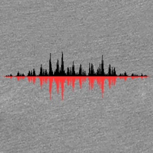 Red Sound Wave - Vrouwen Premium T-shirt