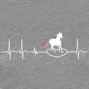 Heartbeat Hjerte Unicorn Unicorn kid gave - Premium T-skjorte for kvinner