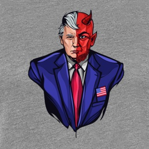 Trump - Two faced Devil - Frauen Premium T-Shirt