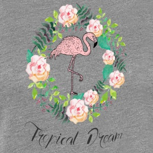 Flamingo - Tropical Dream - Blumenkranz - Frauen Premium T-Shirt
