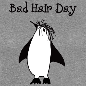 Bad Hair Day Penguin - Maglietta Premium da donna