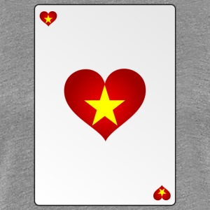 Vietnam Card Heart Ass Heart - Women's Premium T-Shirt