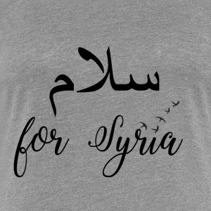 Fred for Syria - Premium T-skjorte for kvinner