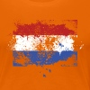 Dutch flag grunge graffiti style Orange pride - Women's Premium T-Shirt