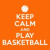 Keep calm and play Basketball - T-shirt Premium Femme