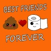 Poo e carta Best Friends Kawaii - Maglietta Premium da donna