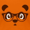 Panda with glasses - nerd Panda bear - glasses - Women's Premium T-Shirt