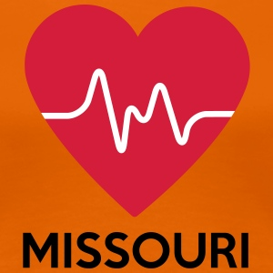 heart Missouri - Women's Premium T-Shirt