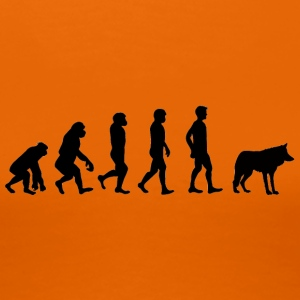 Varulv / Halloween: Evolution - Monkey - Neandertal - Premium T-skjorte for kvinner