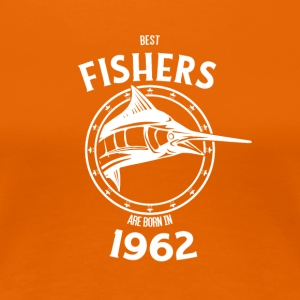 Present for fishers born in 1962 - Frauen Premium T-Shirt