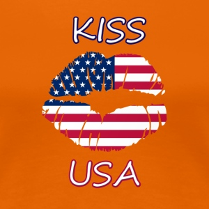 Kiss USA - Dame premium T-shirt